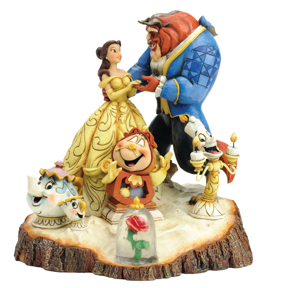 Disney Traditions Tale as Old as Time (Carved by Heart Beauty & The Beast Figur