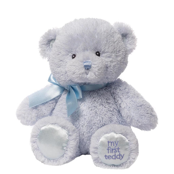 Baby GUND My First Teddy (Small Blue)