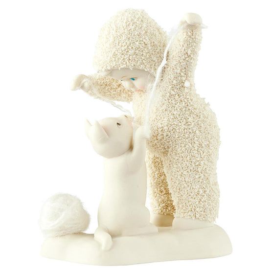 Snowbabies Cat's Play Figurine