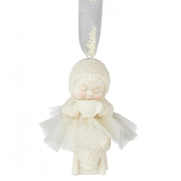 Snowbabies Coffee First Hanging Ornament