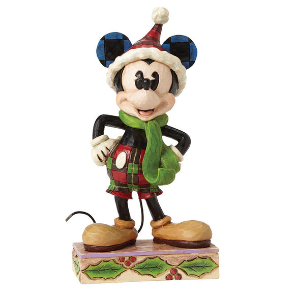 Disney Traditions Merry Mickey Mouse Figurine