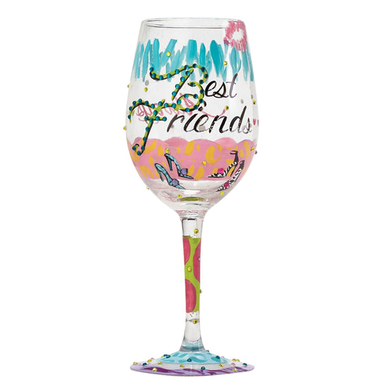 Best Friends Always Wine Glass