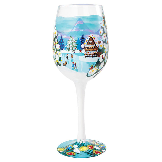 Winter Magic Wine Glass
