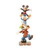 Disney Traditions Teetering Tower (Goofy, Donald Duck & Mickey Mouse Figurine)