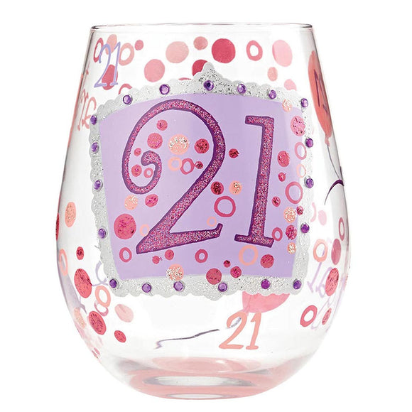 Lolita 21st Birthday  Handpainted Gift Boxed Glass