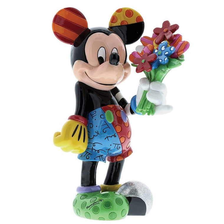 Disney Britto Mickey Mouse with Flowers Figurine