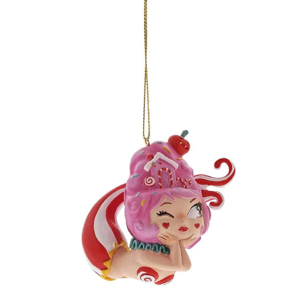 Miss Mindy Cotton Candy Mermaid Hanging Ornament