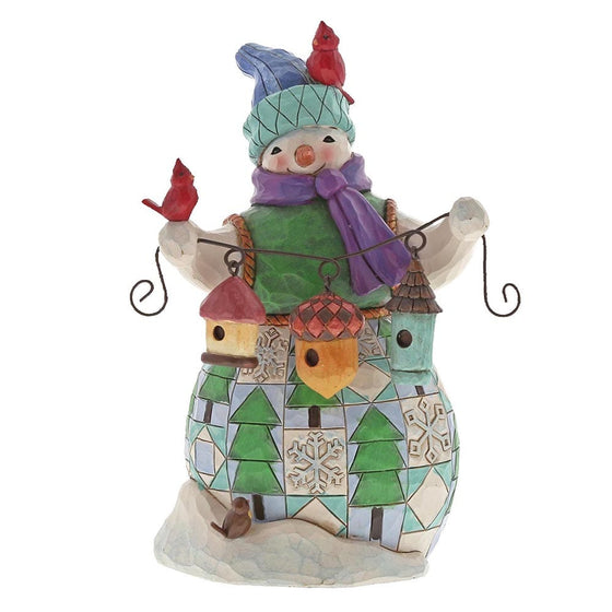 Festive Friends Flock Together (Snowman with Birdhouse)