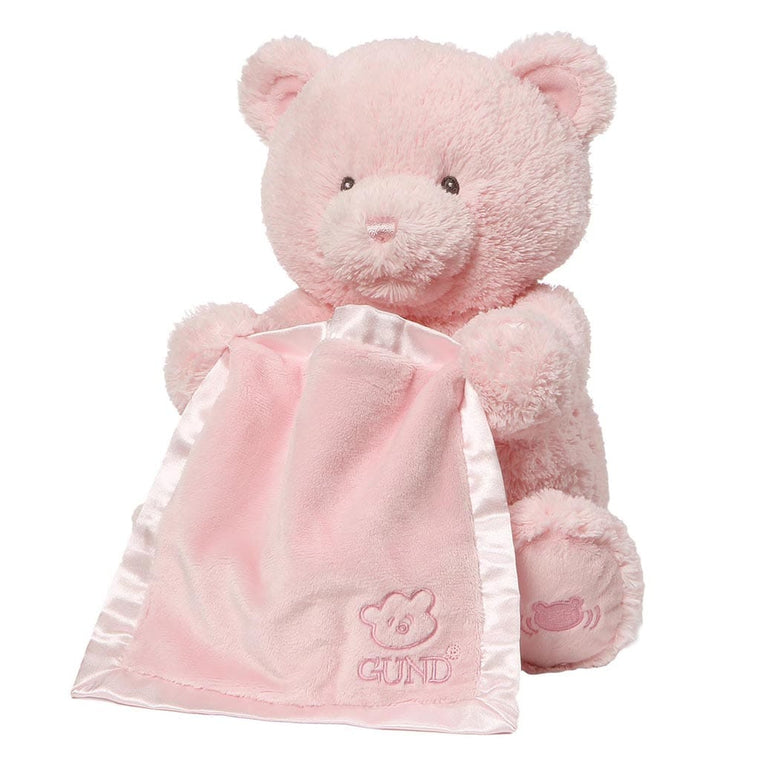 Baby GUND My First Teddy Peek A Boo Pink