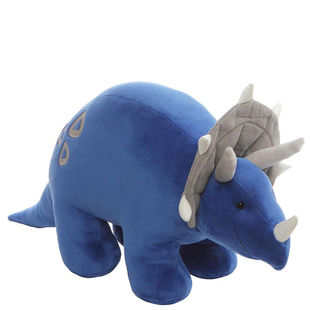 GUND Charger Blue Smiley And Cute Triceratops Dino Soft Toy