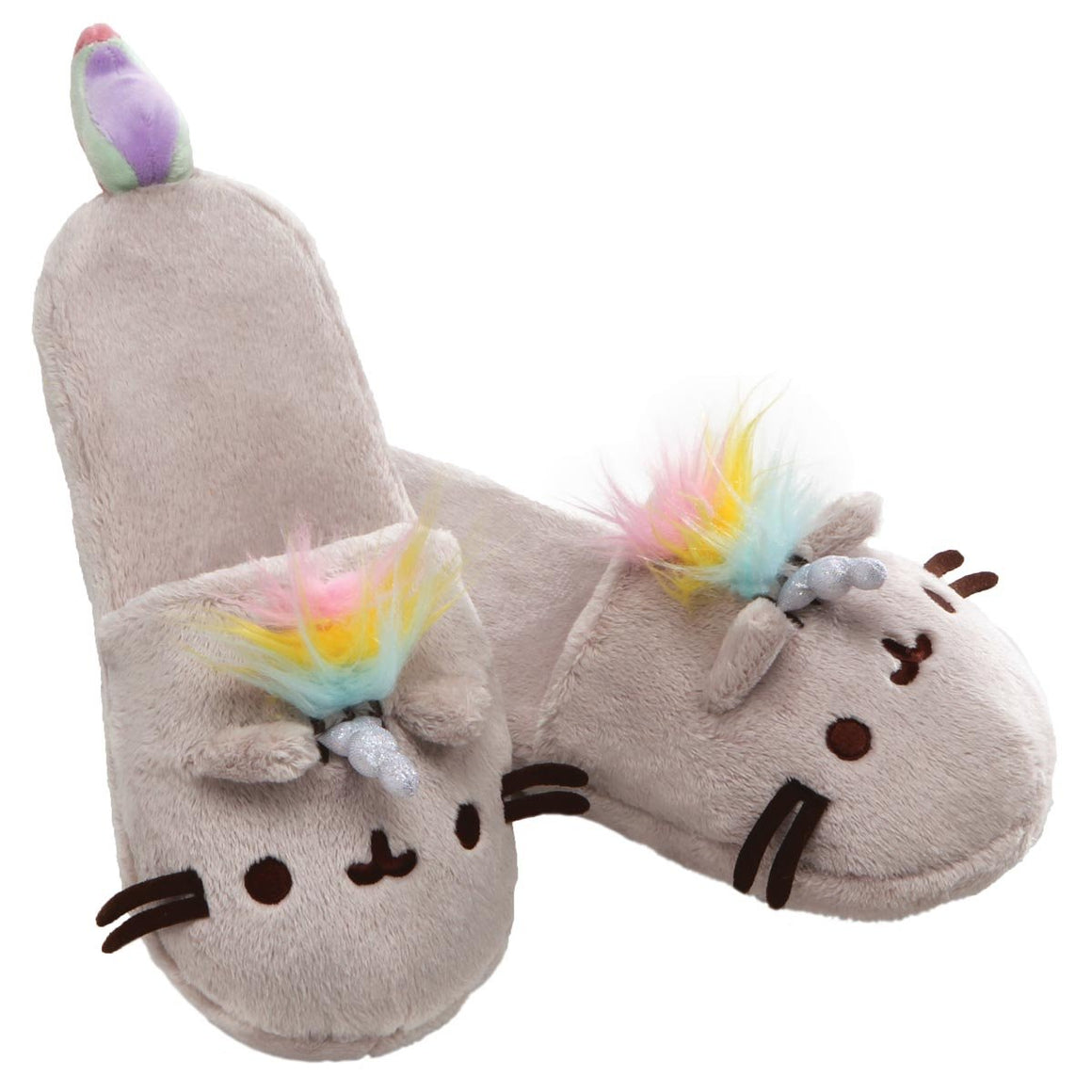Pusheenicorn Super Soft Adult Slippers With Sparkly Horn