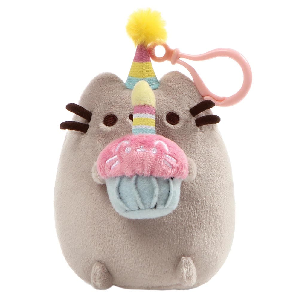 Pusheen Snackable Birthday Backpack Soft Toy Clip With Hat