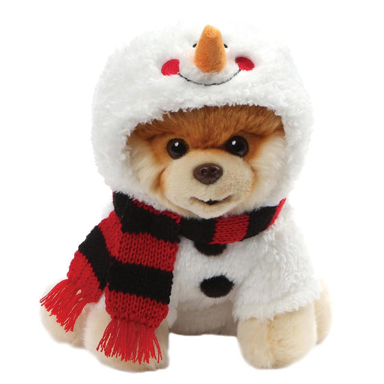 GUND Boo Snowman With Carrot Nose And Wintery Stripy Scarf