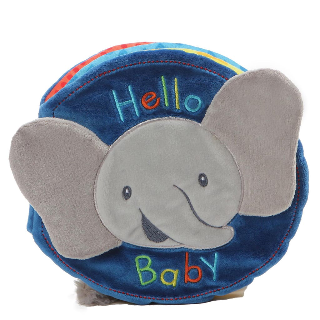 Baby GUND Flappy the Elephant Cute Sensory Play Soft Book