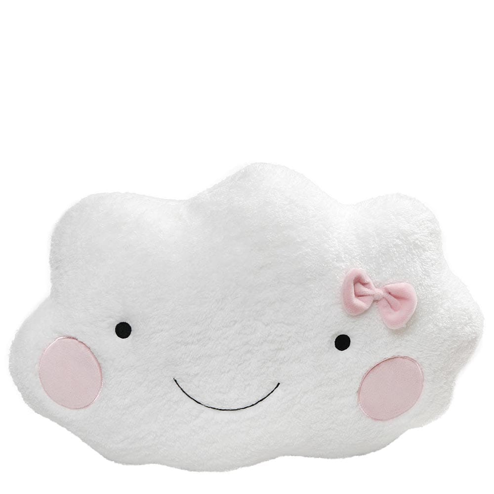 GUND Cloud Soft Toy With Adorable Cute Smile And pink Bow