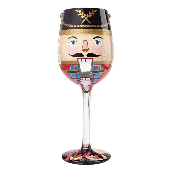 Lolita Let's Get Nuts Wine Glass