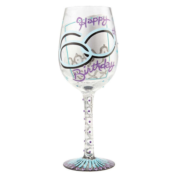 Lolita 60th Birthday Wine Glass