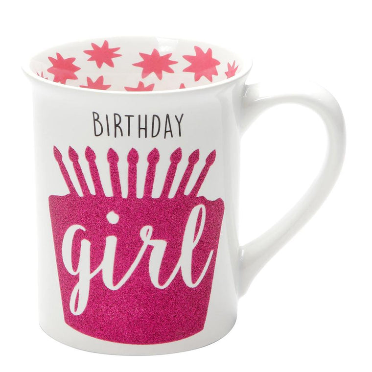 Birthday Girl Glitter Mug by Our Name Is Mud