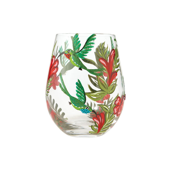 Hummingbird Stemless Wine Glass
