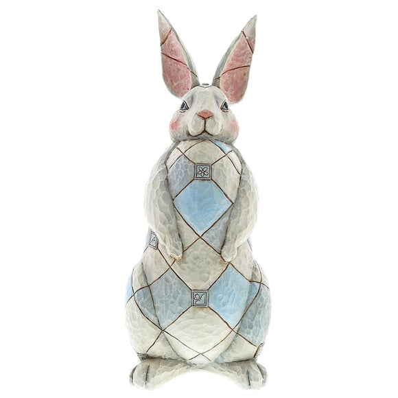 Jim Shore Grey Rabbit Garden Ornament