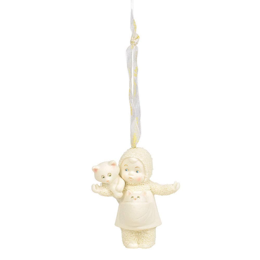 Cat Lady Hanging Ornament - Snowbabies by D56