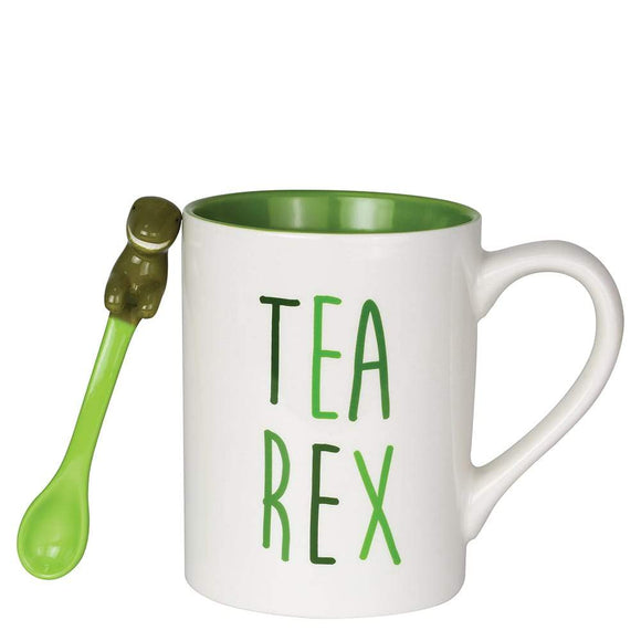Tea-Rex Mug with Sculpted Spoon Set by Our Name Is Mud
