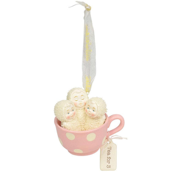 Tea for Three Hanging Ornament - Snowbabies by D56