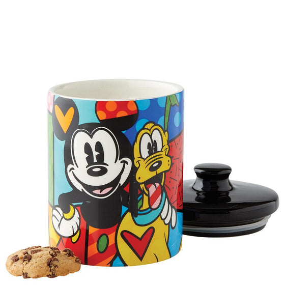 Disney Britto Mickey Mouse and Pluto Cookie Jar Small