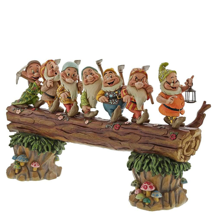 A Good Day's Work, A Good Night's Sleep - Seven Dwarfs Figurine - Disney Traditions by Jim Shore