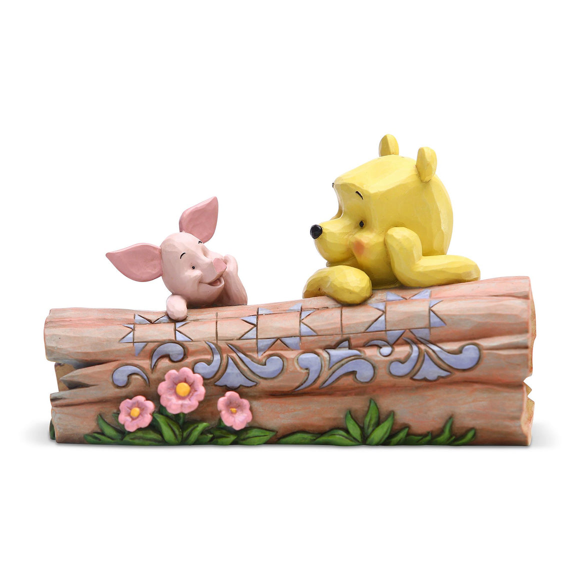 Disney Traditions Pooh and Piglet on a Log Figurine