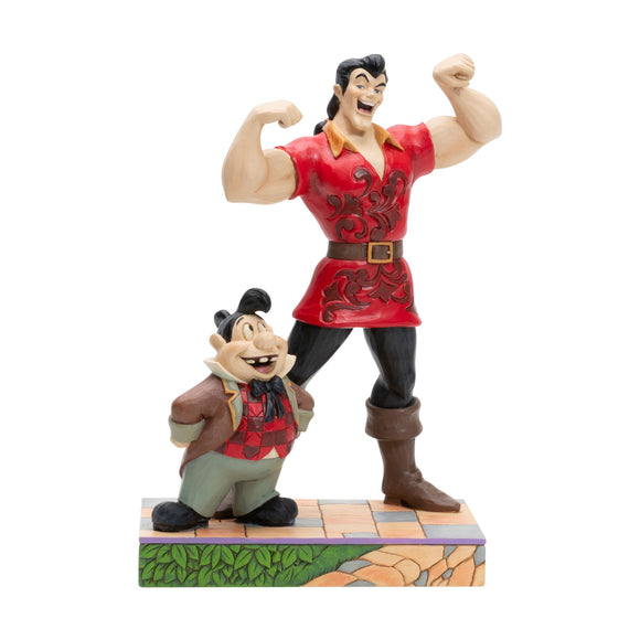 Muscle-Bound Menace - Gaston and Lefou Figurine - Disney Traditions by Jim Shore