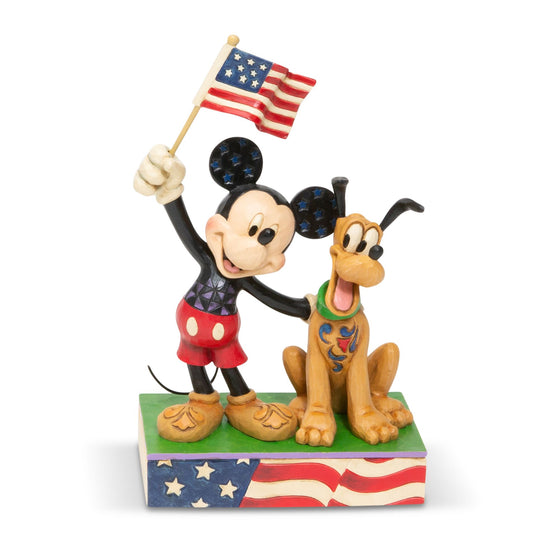 A Banner Day - Mickey and Pluto Figurine - Disney Traditions by Jim Shore