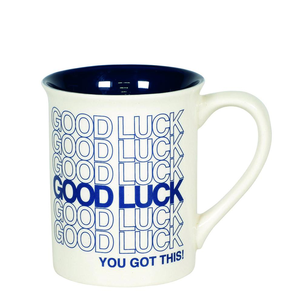 Good Luck Type Mug by Our Name Is Mud