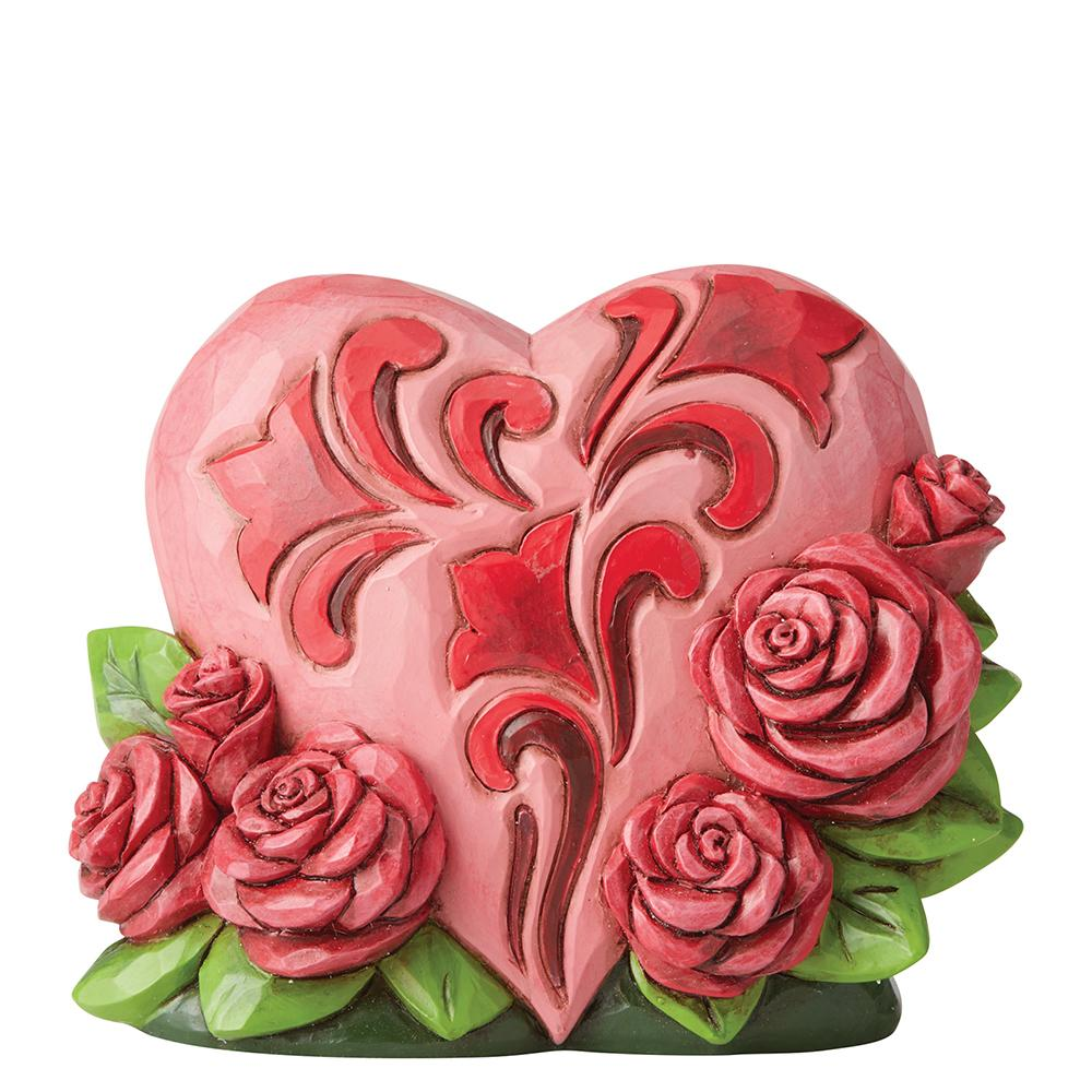 Heartwood Creek by Jim Shore Heart with Roses Mini Figurine