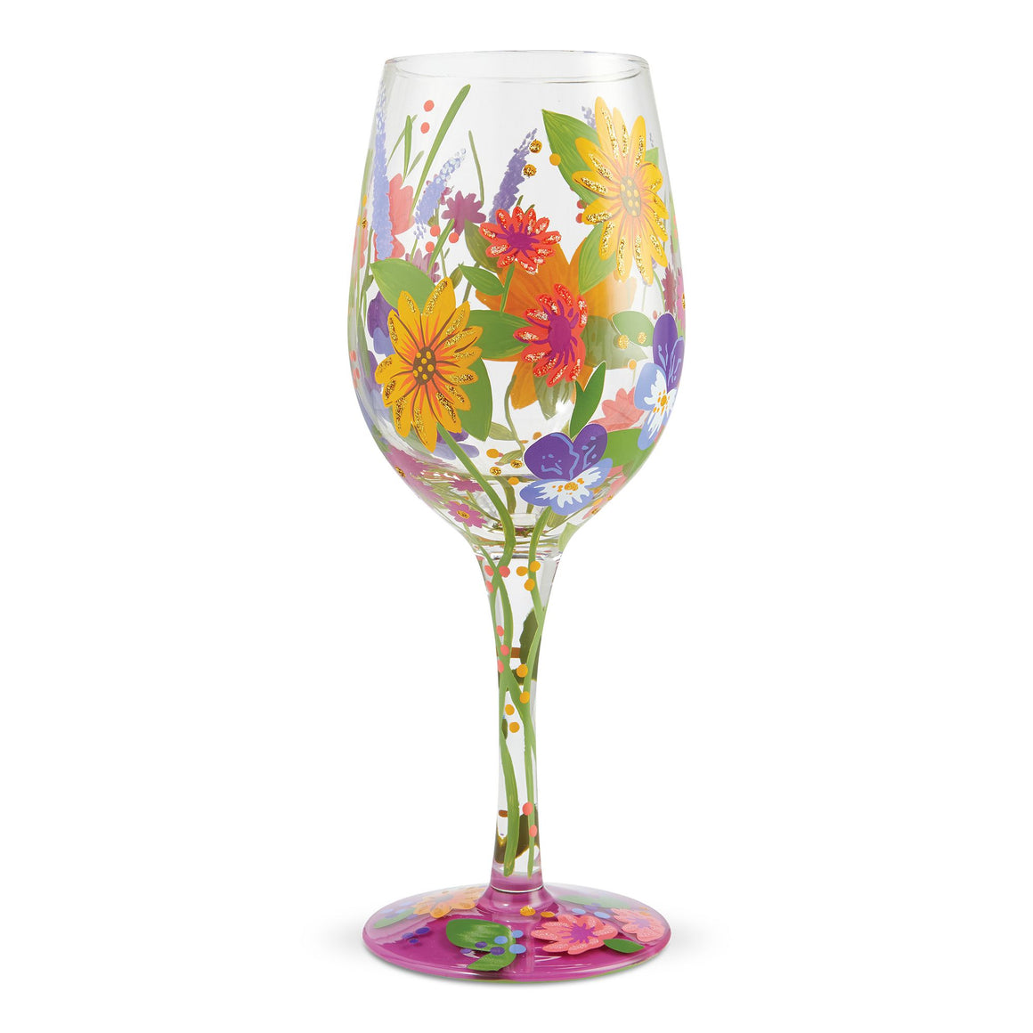 Lolita In the Garden Wine Glass