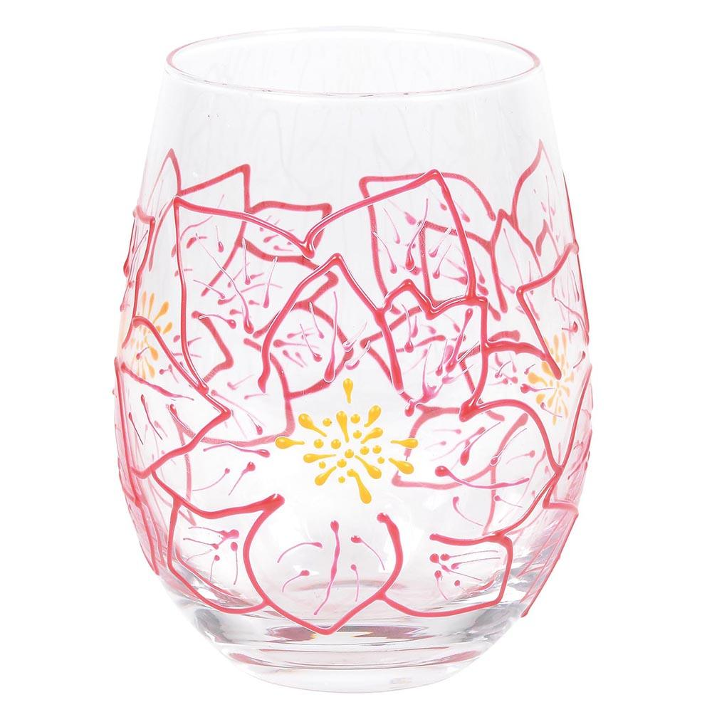Poinsettias Glass