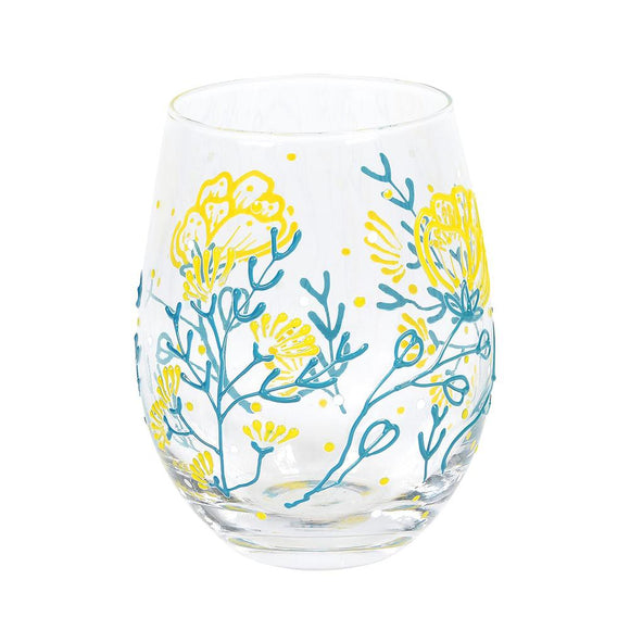 Small Floral Glass