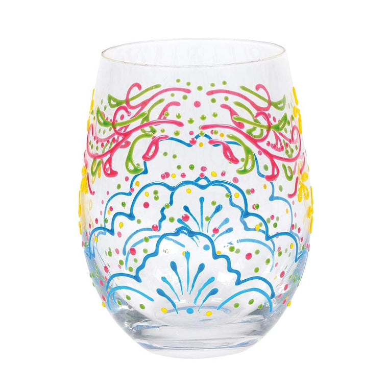 Rose Henna Glass