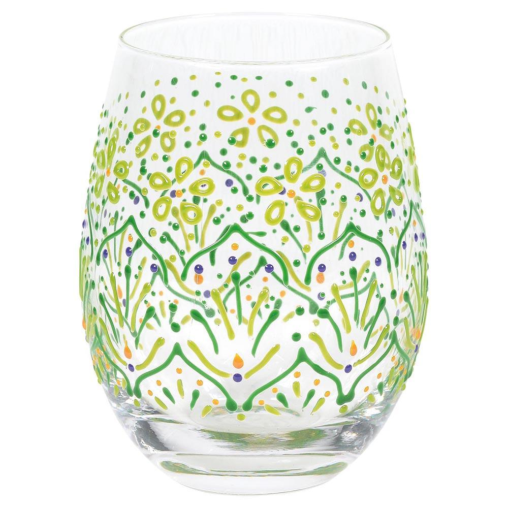 Lemon Henna Glass