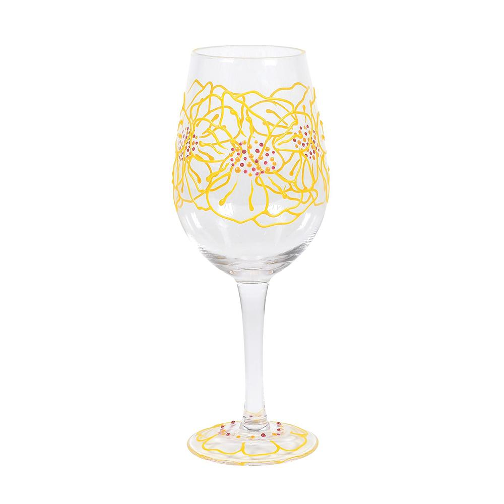 Marigolds Wine Glass