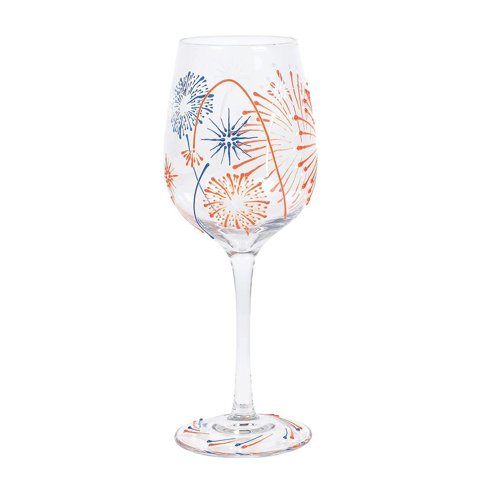 Fireworks Wine Glass