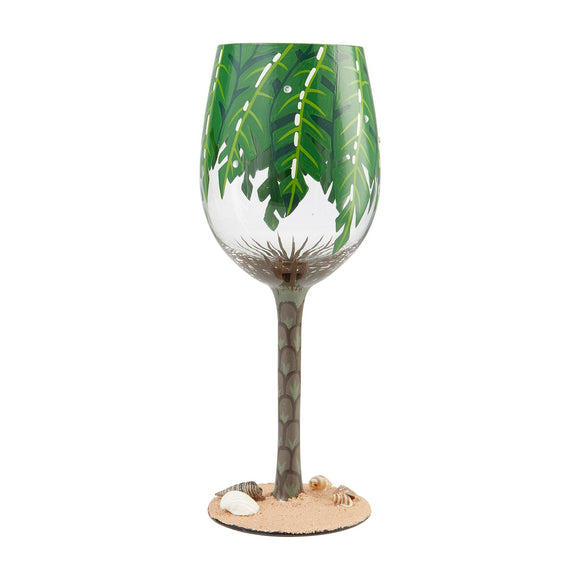 Palm Tree Wine Glass by Lolita
