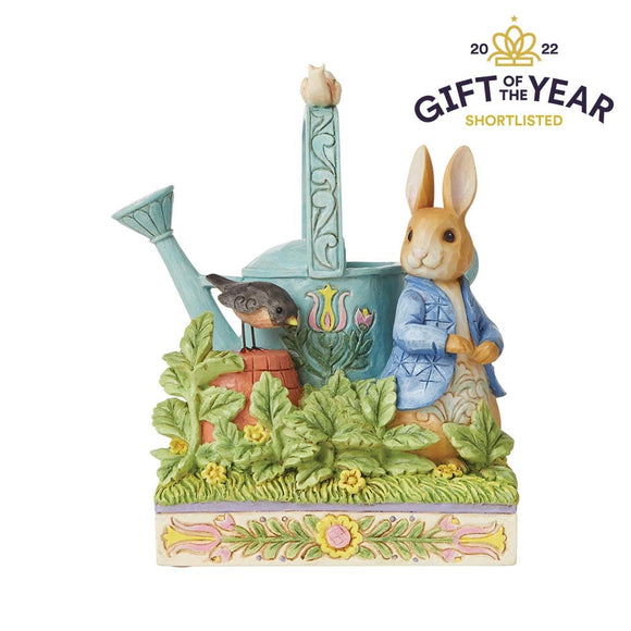 Caught in Mr. McGregor's Garden (Peter Rabbit Figurine)