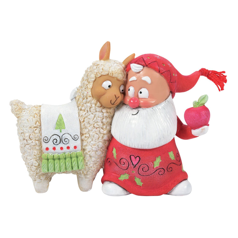 Snow Gnome with Llama