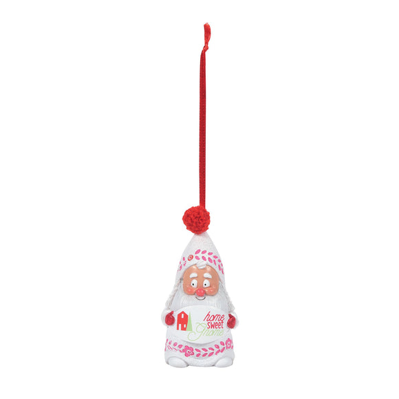 Snow Gnome Home Sweet Gnome Hanging Ornament
