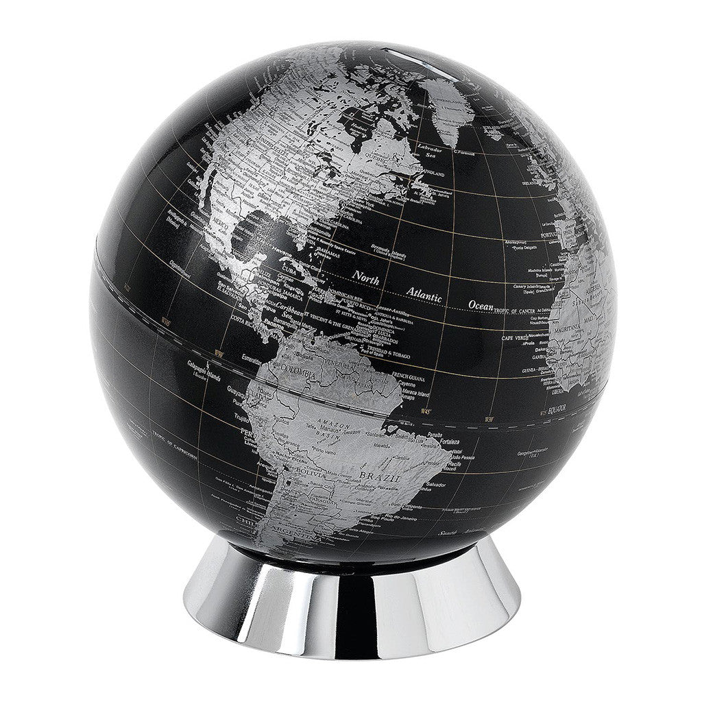 The Globe Collection Black Globe Bank 20cm