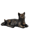 Border Fine Arts Studio Bronze Cat Lying Down Figurine