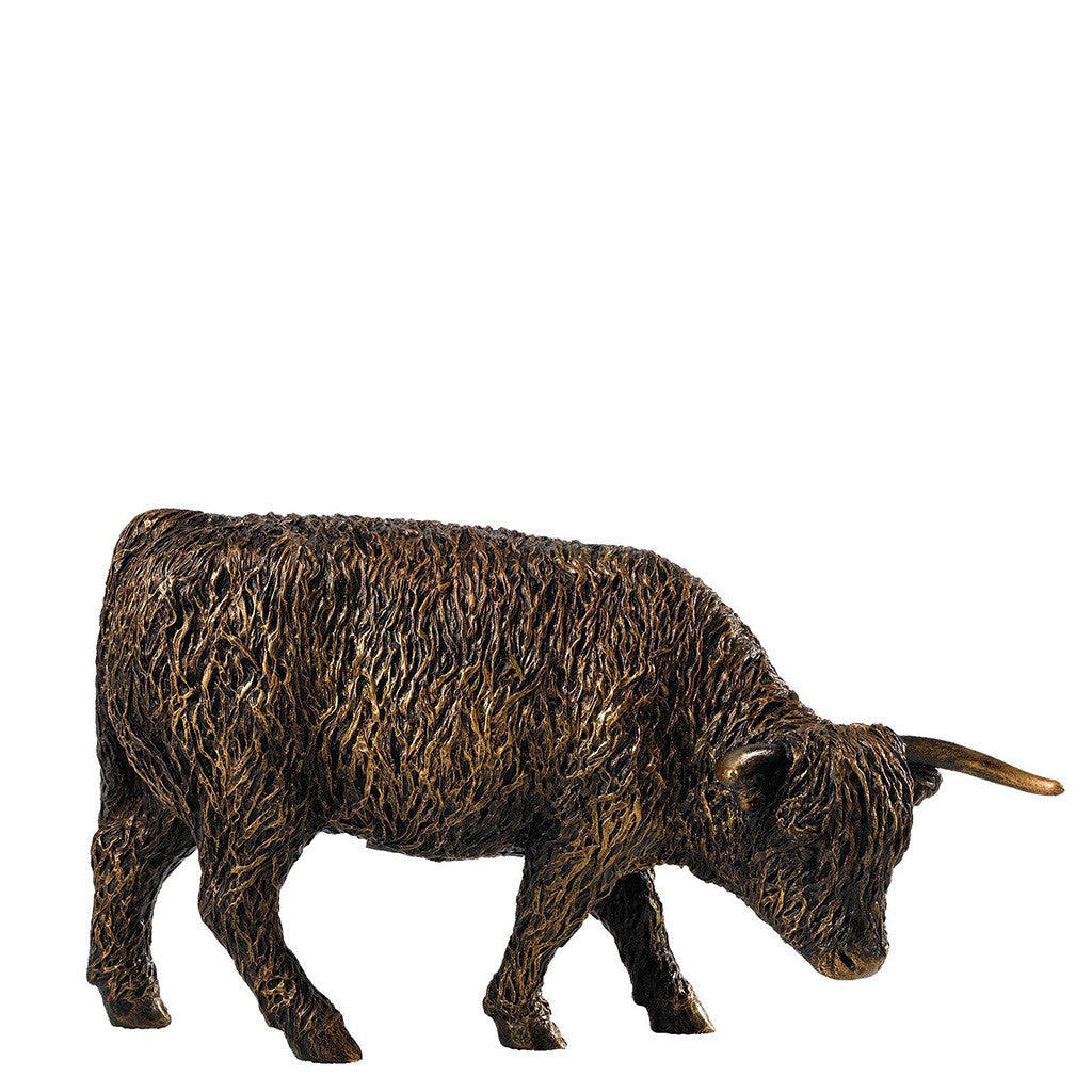 Border Fine Arts Studio Bronze Highland Cow Figurine