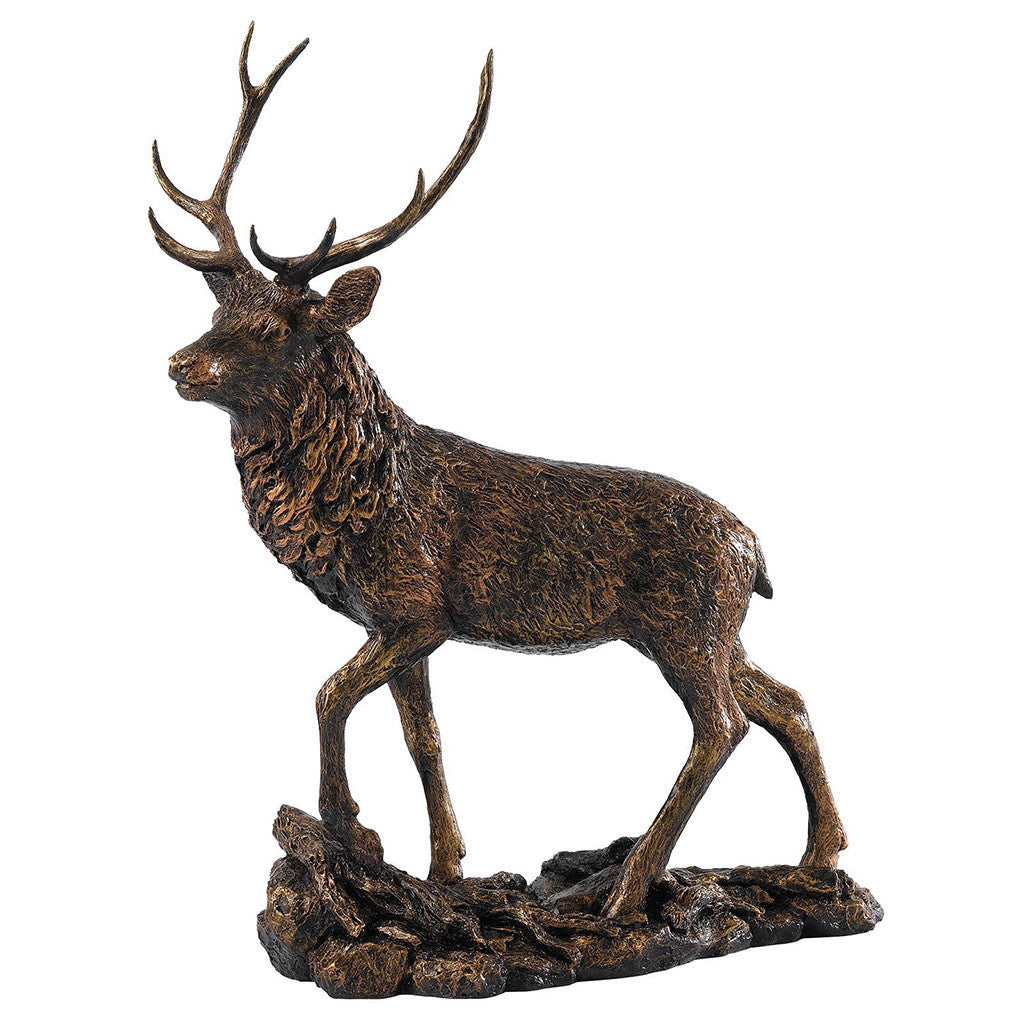 Border Fine Arts Studio Bronze Stag Figurine