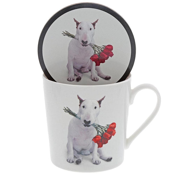 Jimmy the Bull 'Red Roses' Mug & Coaster